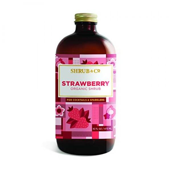 Shrub & Co Organic Strawberry Shrub - Fruit-Driven Mixers for Co...