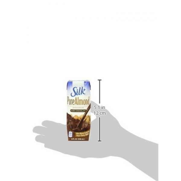 Silk Pure Almondmilk, Dark Chocolate, 8 Ounce, 18 Count, Chocola...