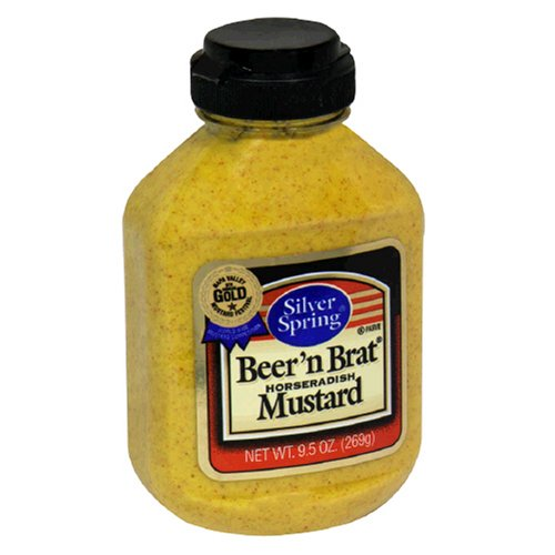 Silver Springs Mustard, Beer n Brat, 9.5-Ounce Squeeze Bottles ...