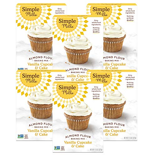 Simple Mills Almond Flour Baking Mix, Gluten Free Vanilla Cake M...