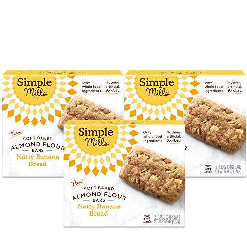 Simple Mills Almond Flour Snack Bars Nutty Banana Bread with O...