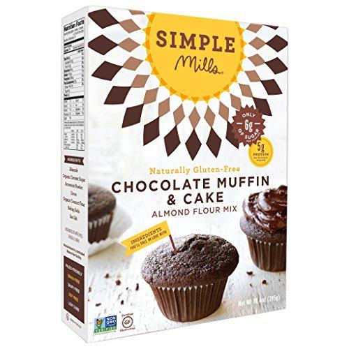 Simple Mills Chocolate Muffin & Cake Mix, Paleo, 10 Oz (2 Pack)