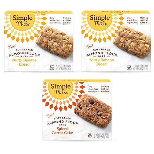 Simple Mills, Snacks Variety Pack, Nutty Banana Bread, Spiced Ca...