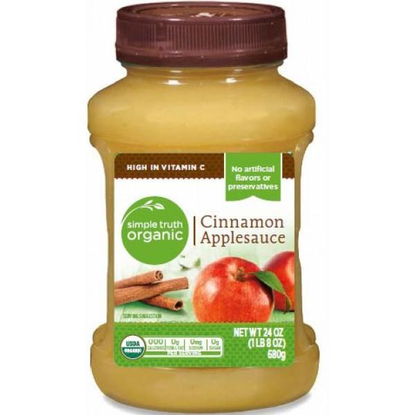Simple Truth USDA Organic Cinnamon Applesauce 24 Oz. Bottle Pac...