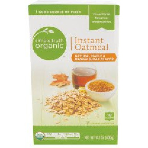 Simple Truth Organic Instant Oatmeal Maple & Brown Sugar Flavore...