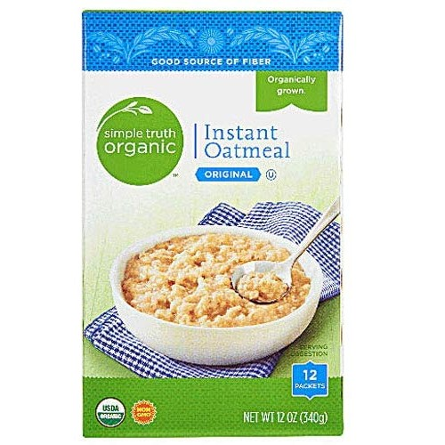 Simple Truth Organic Instant Oatmeal 12 Ct Pack of 2
