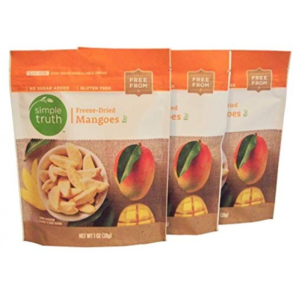 Simple Truth Freeze-Dried Mangoes 1 oz 3 Pack