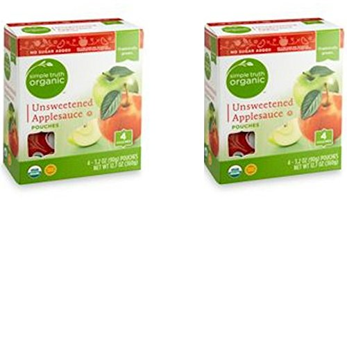 Simple Truth Organic Unsweetened Applesauce 4 count Pouches Pac...