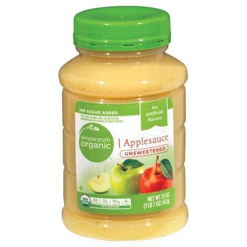 Simple Truth USDA Organic Unsweetened Applesauce 23 Oz. Bottle (...