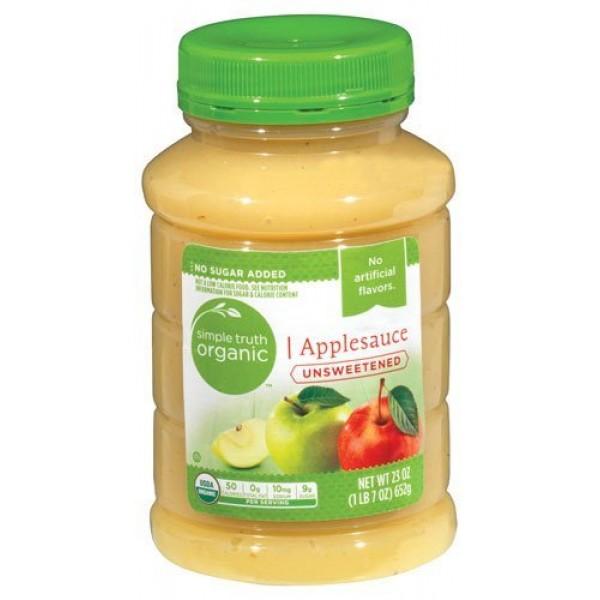 Simple Truth USDA Organic Unsweetened Applesauce 23 Oz. Bottle ...