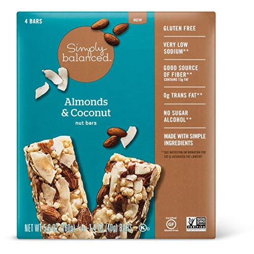 Simply Balanced Almonds & Coconut Nut Bars 1.4oz x 4 bars, pack ...