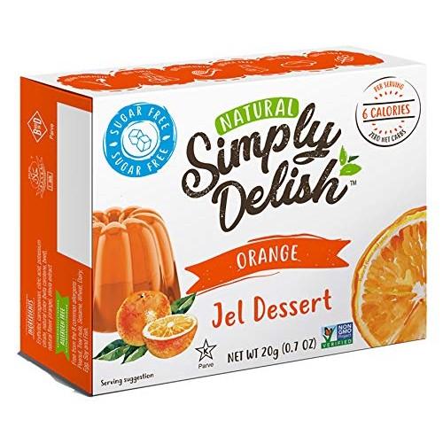Simply Delish Dessert Jel, Orange, 1.6 Ounce Pack of 6