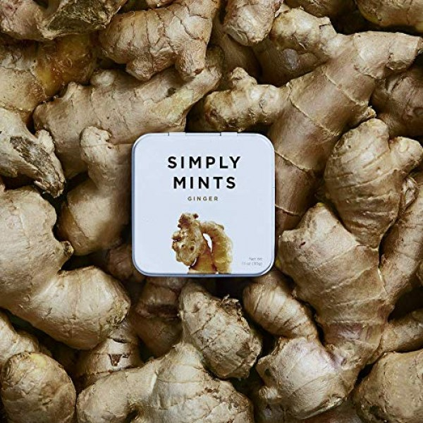 Breath Mints by Simply Gum   Ginger   Pack of Six 270 Pieces To...