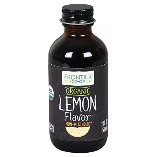 Frontier Co-op Lemon Flavor Organic, Non-Alcoholic, 2 ounce bottle