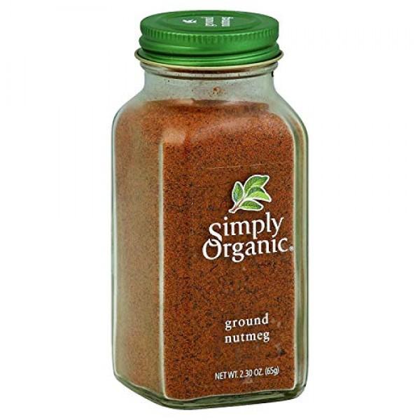 Simply Organic Ground Nutmeg - 2.3 oz - 95%+ Organic - Yeast Fre...
