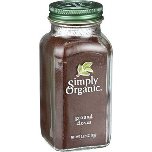 Simply Organic Cloves - Organic - Ground - 2.82 oz - 95%+ Organi...