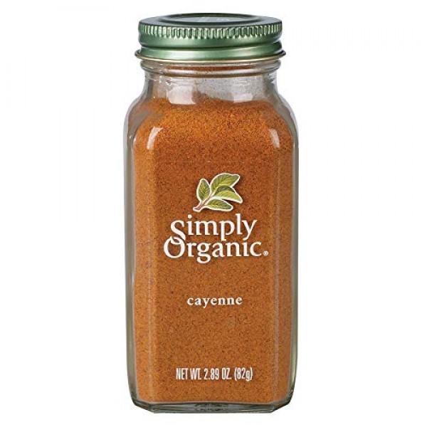Simply Organic Cayenne Pepper, Certified Organic | 2.89 oz | Cap...