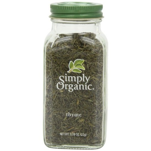 Simply Organic Thyme Leaf Whole Certified Organic, 0.78-Ounce Co...