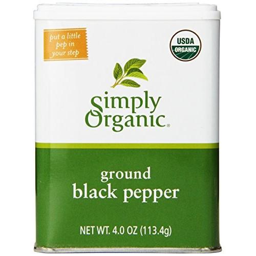 Simply Organic Pepper Tin, 4 Ounce