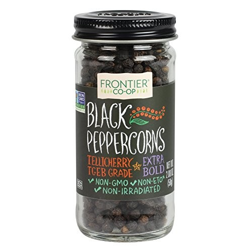 Frontier Peppercorns, Black Whole, 2.08-Ounce Bottle