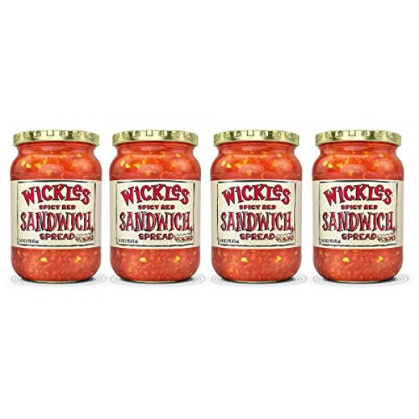 Wickles Spicy Red Sandwich Spread, 16 OZ Pack - 4