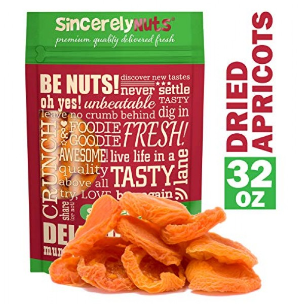 Sincerely Nuts - Dried Jumbo California Apricots | Two Lb. Bag |...