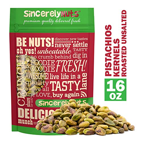 Sincerely Nuts Pistachios Roasted & Unsalted Kernels No Shell ...
