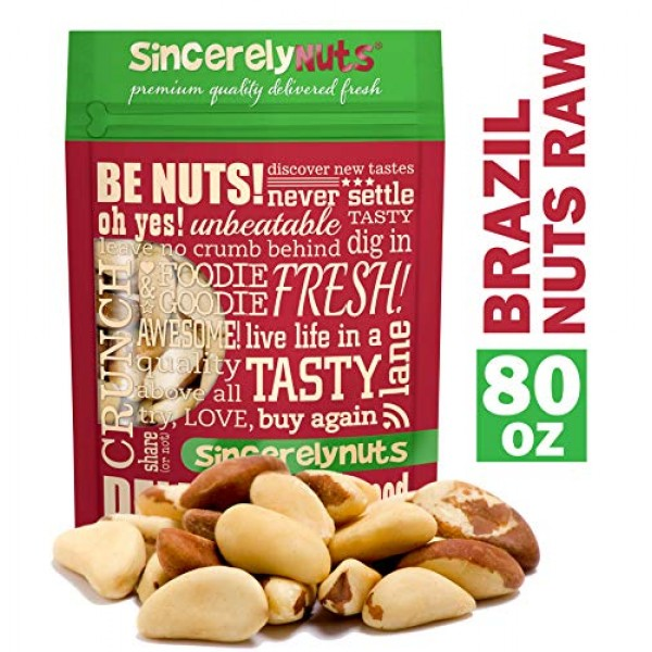 Sincerely Nuts Raw Brazil Nuts No Shell 5Lb Bag | Premium Heal...