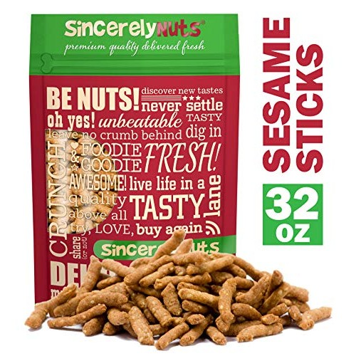 Sincerely Nuts Salted Sesame Sticks - 2 LB The Perfect Vegan T...