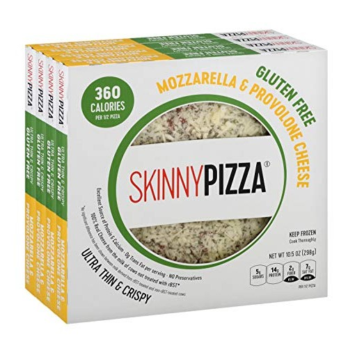 SKINNYPIZZA Gluten Free Cheese Pizza Frozen 4 Pack