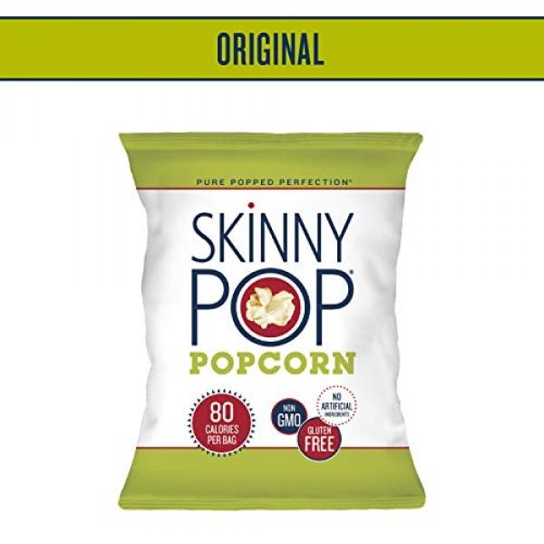 SkinnyPop Popped Popcorn Variety Original & White Cheddar, Ind...