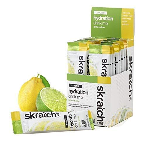 SKRATCH LABS Sport Hydration Drink Mix, Lemon Lime 20 single se...