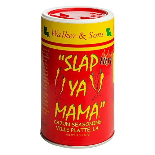 Slap Ya Mama Louisiana Style Cajun Seasoning, Hot Blend, MSG Fre...