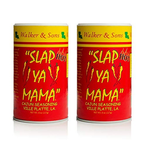 Slap Ya Mama Louisiana Style Cajun Seasoning, Hot Blend, MSG Fre...