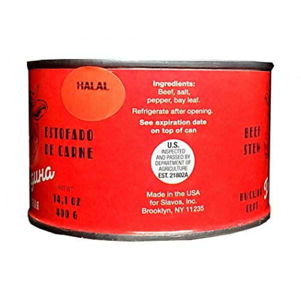 Beef Stew canned 14.1 Ounce / 400 Gram Tushonka. 100% Natura...