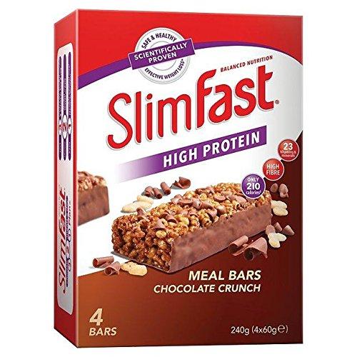 SlimFast Meal Bar Chocolate Crunch - 4 x 60g