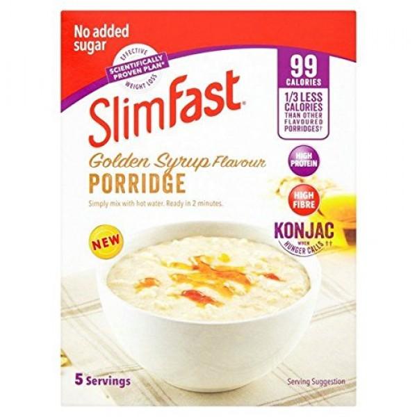 SlimFast Porridge, Golden Syrup - 5 x 29g 0.32lbs
