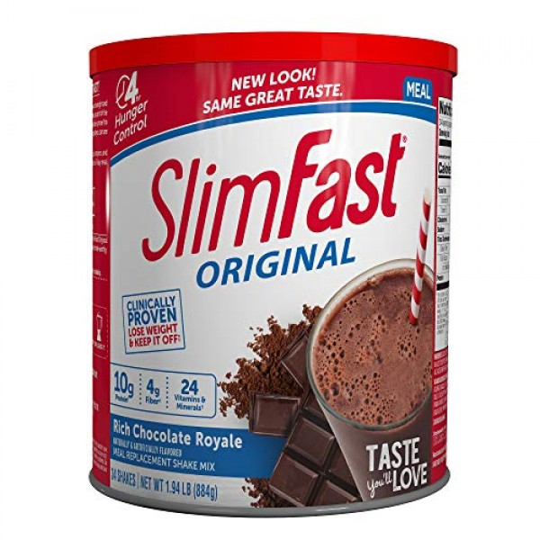 SlimFast Original Rich Chocolate Royale Meal Replacement Shake M...