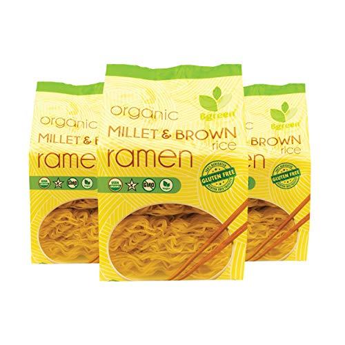 BGreen Organic Millet & Brown Rice Japanese Ramen Noodles 3 Pack...