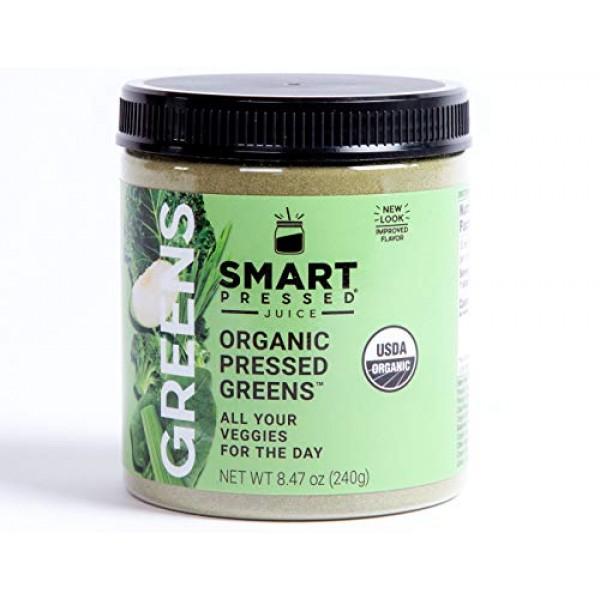 Smart Pressed Organic Greens Superfoods Juice Powder Single Serv...