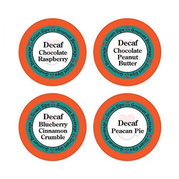 Decaffeinated Flavored Coffee Variety Sampler Pack, Keurig K-cup...