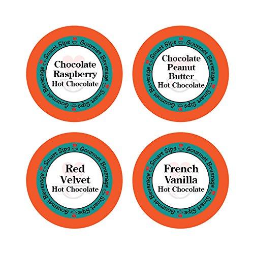 Hot Chocolate Lovers Variety Pack - Chocolate Raspberry, Red Vel...