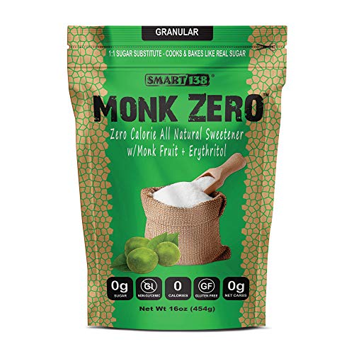 Monk Zero - Monk Fruit Sweetener, Non-Glycemic, Keto Approved, Z...
