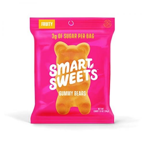 SmartSweets Low Sugar Gummy Bears Candy Fruity 1.8 Oz Bags Box ...