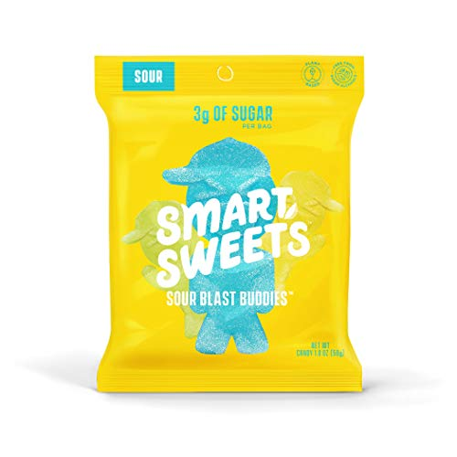SmartSweets Sour Blast Buddies 1.8 Ounce Pack of 12, Candy Wit...