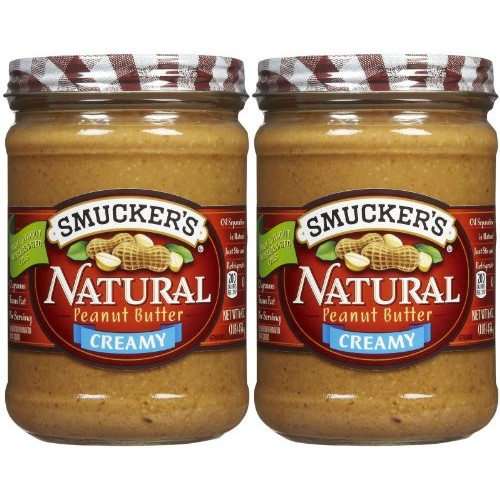 Smuckers Creamy Natural Peanut Butter - 16 oz - 2 pk