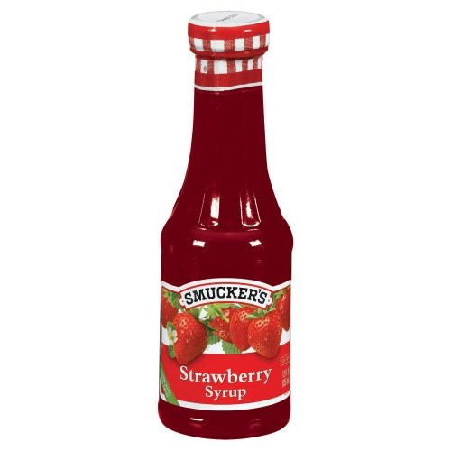 Smuckers Strawberry Syrup, 12-Ounce Glass Pack of 6