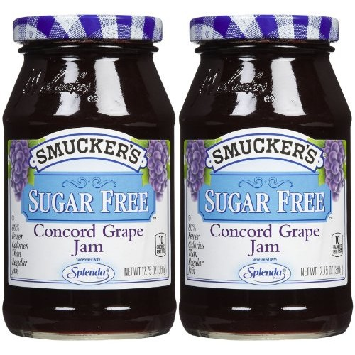 Smuckers Sugar-Free Concord Grape Jam 12.75 Pack of 2