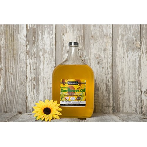 Smude Sunflower Oil 1 Gallon Glass [Cold Pressed, All Natural, N...