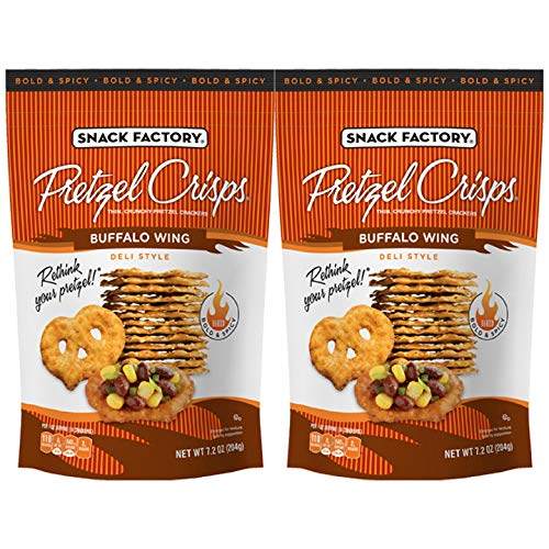 Snack Factory Buffalo Wing Pretzel Crisps 7.2oz 2 pack